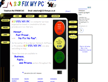 Tablet Preview of 123-fixmypc.co.uk